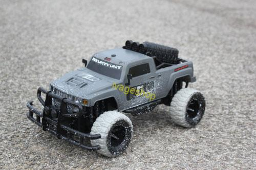 RC Jeep Truck Sivá 1:10